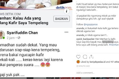 """Bilang Kafir Saya Tempeleng"", Netizen Peringatkan Yang Mau Tadarusan Hati-hati, Karena Bisa Tempeleng Menhan, Karena Bakal Mengulang-ulang Kata ""Kafir"""