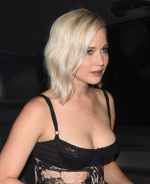 Jennifer Lawrence Night Out Style London