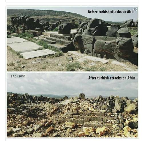 Συρία:Οι Τούρκοι προχώρησαν σε μια τεραστίου μεγέθους αρχαιολογική καταστροφή