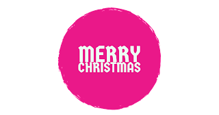 Pink colour Merry Christmas png free download