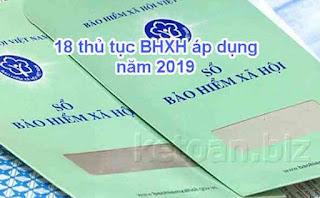 18 thủ tục hành chính bảo hiểm xã hội áp dụng từ năm 2019