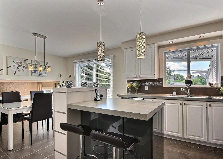 Dapur minimalis modern gabung dengan ruang makan