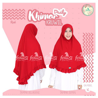 Khimar Daily Fenuza Kruwil Red