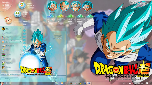 Windows 10 Ver. 1703 Theme Dragon Ball Super by Enji Riz