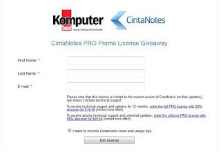 Giveaway CintaNotes 3.8 Pro
