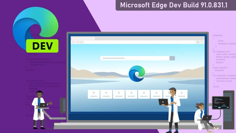 Microsoft Edge Dev channel build 91.0.831.1 adds Color Themes, Linux sync