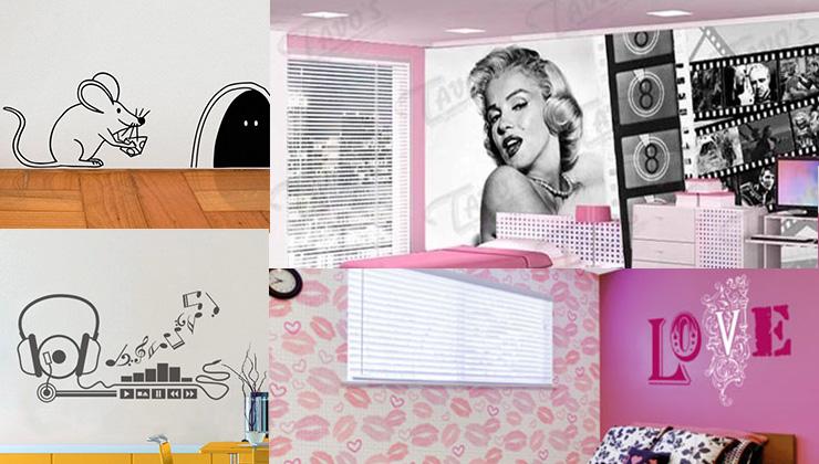 quartos com adesivos
