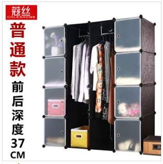 Assembled Large Modern Minimalist Wardrobe Creative Combination Of Simple Magic Sheet Metal Steel Frame Cabinet IKEA Simple