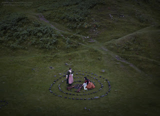 The Seamstress of Rohan at the Fairy Glen, Isle of Skye, Scotland, Mandragoreae Victoria Francés