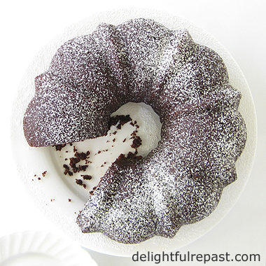 Chocolate Bundt Cake - this one is light, not dense and heavy / delightfulrepast.com