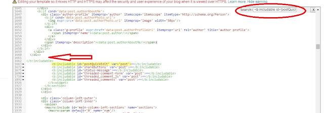 Insert HTML code to blogger