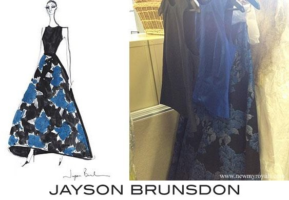 Crown Princess Mary wore a Jayson Brunsdon skirt