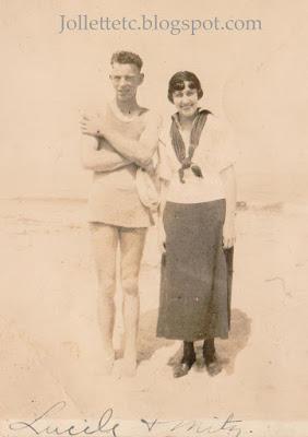 Mitz Ollice and Lucille Fritzinger at Ocean View https://jollettetc.blogspot.com