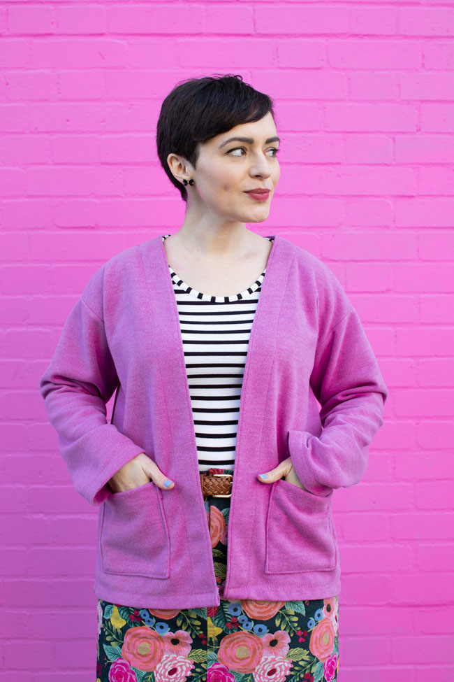 Nora Cardigan Pattern Hack - Tilly and the Buttons