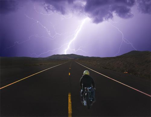 Resultado de imagen para motorcycle in storm