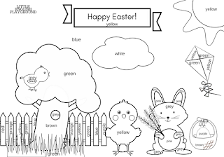Easter printables: story, colouring pages and game