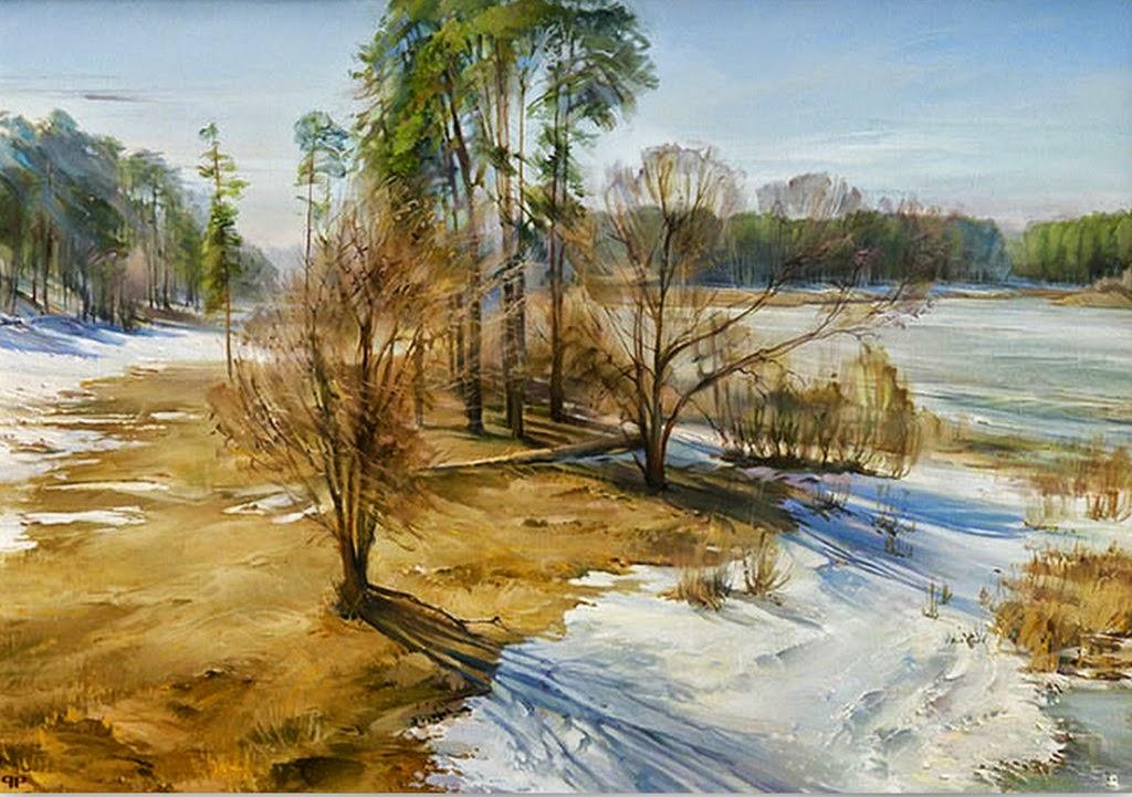 Cuadros modernos pinturas y dibujos paisajes nevados - Paisajes nevados para pintar ...