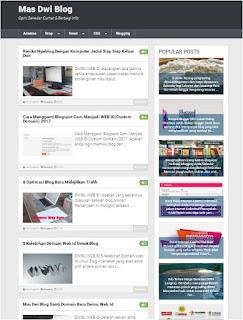 MD Blog  Memakai Kompi Flexible Template Premium