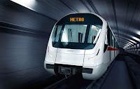 Tünel içinde bir metro