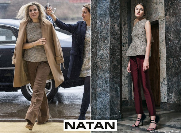 Queen Maxima wore Natan Blouse from 2017 Spring Summer Collection