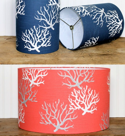 Coastal, Beach & Nautical Lamp Shades - Coastal Decor ...