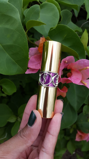 Yves Saint Laurent Rouge Volupte Shine Oil-In-Stick '19 Fuchsia in Rage' - www.modenmakeup.com