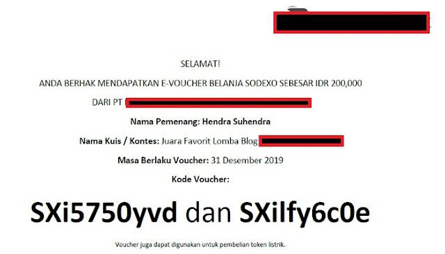 Electronic Voucher Sodexo - Blog Mas Hendra