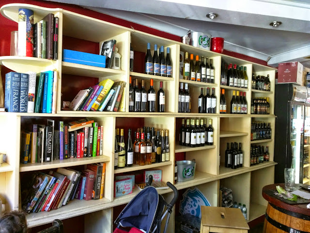 Bookshelf at Probus Wine and Spirits in Dublin