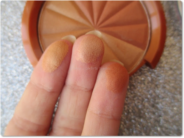 Broncer SunShimmer 001 Gold Princess de Rimmel - Swatch