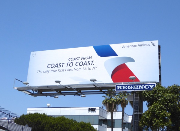 American Airlines Coast from coast to coast billboard