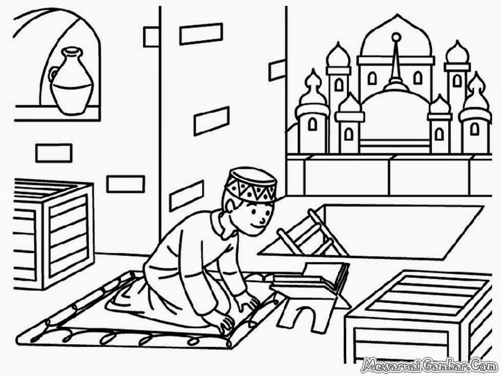 Daftar Contoh Gambar Masjid Untuk Lomba Mewarnai
