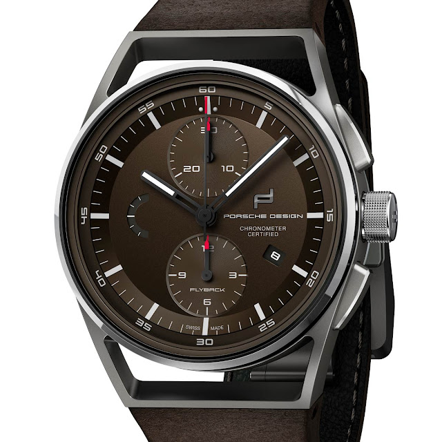 Porsche Design - 1919 Chronotimer Flyback Brown  30b131993ca