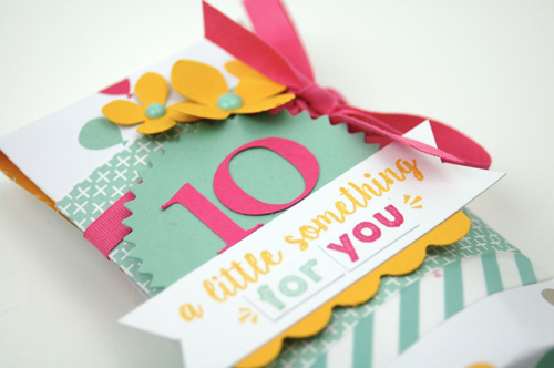 Stampin' Up! Birthday Gift box and Matching Tag created by Jen Gallacher for SCT Magazine's 10th anniversary.
