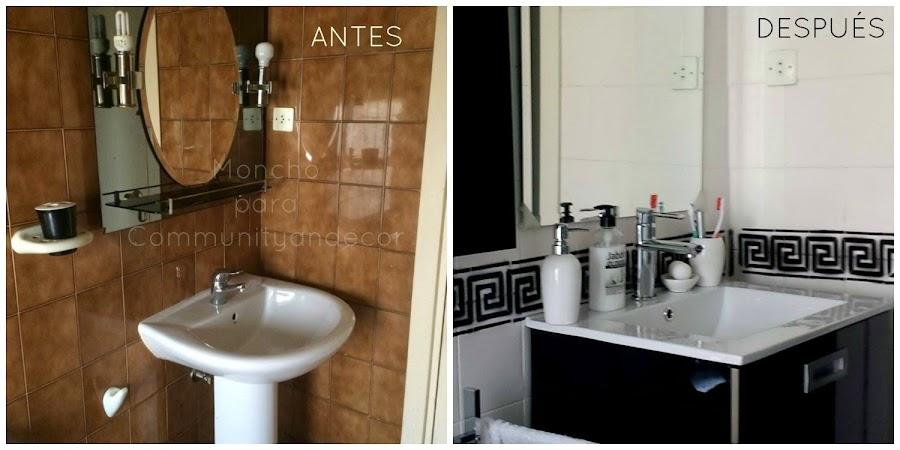 bricolaje antes y despues de un baño reciclado
