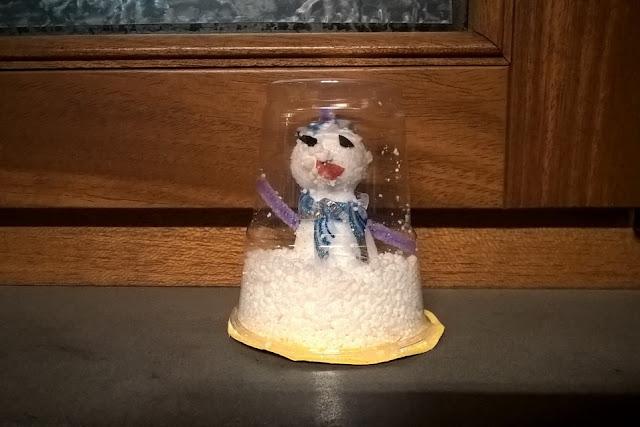creare globo neve bambini