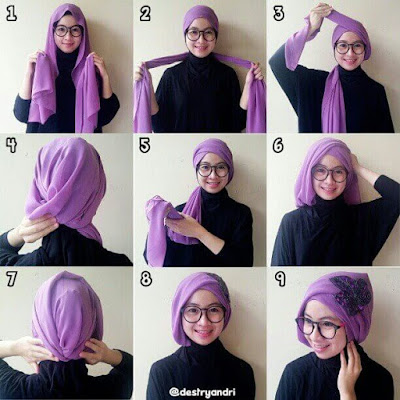 Tutorial Hijab Model Turban Simple untuk Pesta dan Kondangan