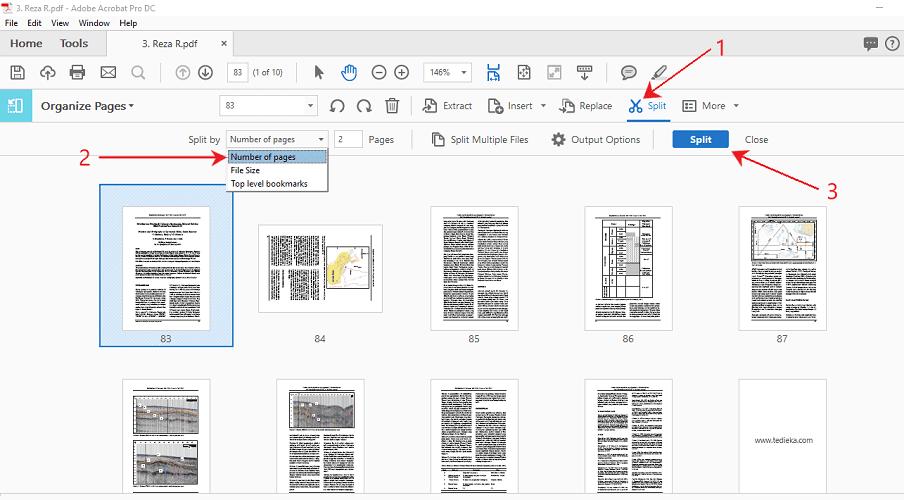 cara split/memisahkan file pdf offline dengan adobe acrobat pro dc