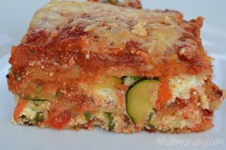 slice of veggie lasagna