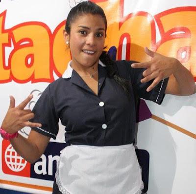 Foto de Maricarmen Marín vestida de empleada del hogar
