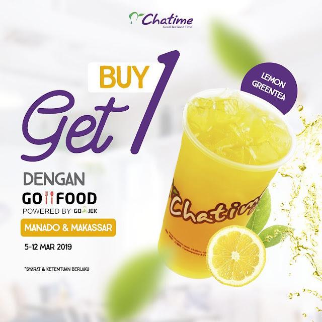 #Chatime - #Promo Buy 1 Get 1 Free Lemon Greentea Area Manado & Makassar (s.d 12 Maret 2019)