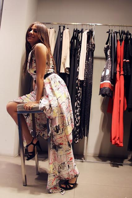 vestito lungo mangano