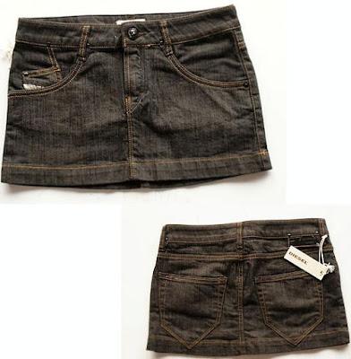 Foto de minifalda jean muy corta