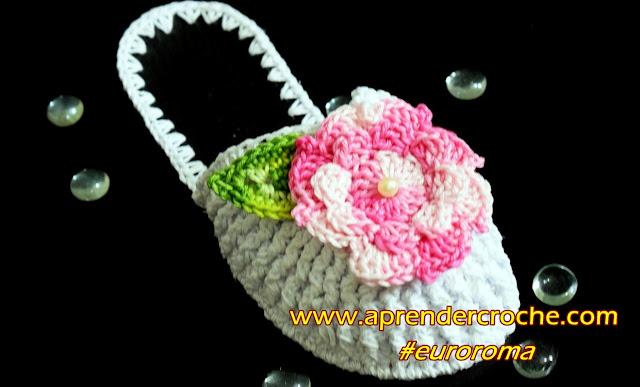 chinelos de croche com flores aprender croche curso de croche euroroma edinircrochevideos versão canhotos left handed crochet