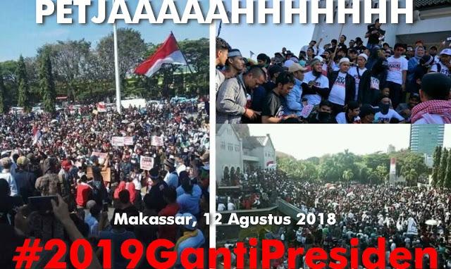 Pecahhh! Walau Tanpa Kupon Hadiah, Deklarasi '2019 Ganti Presiden' di Makassar Membludak