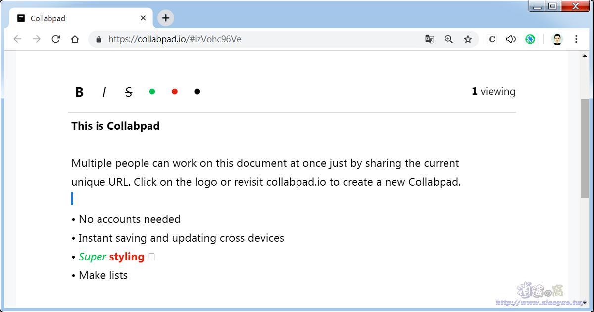 Collabpad 免費線上筆記本