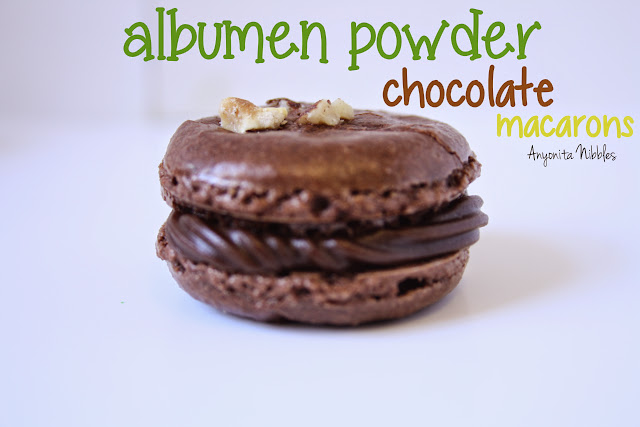 Albumen Powder Chocolate Macarons