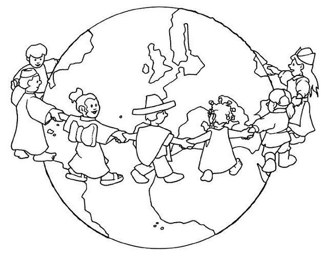 Culturas Del Mundo Para Colorear: ESOS LOCOS BAJITOS DE INFANTIL: FICHAS DE PAZ PARA COLOREAR