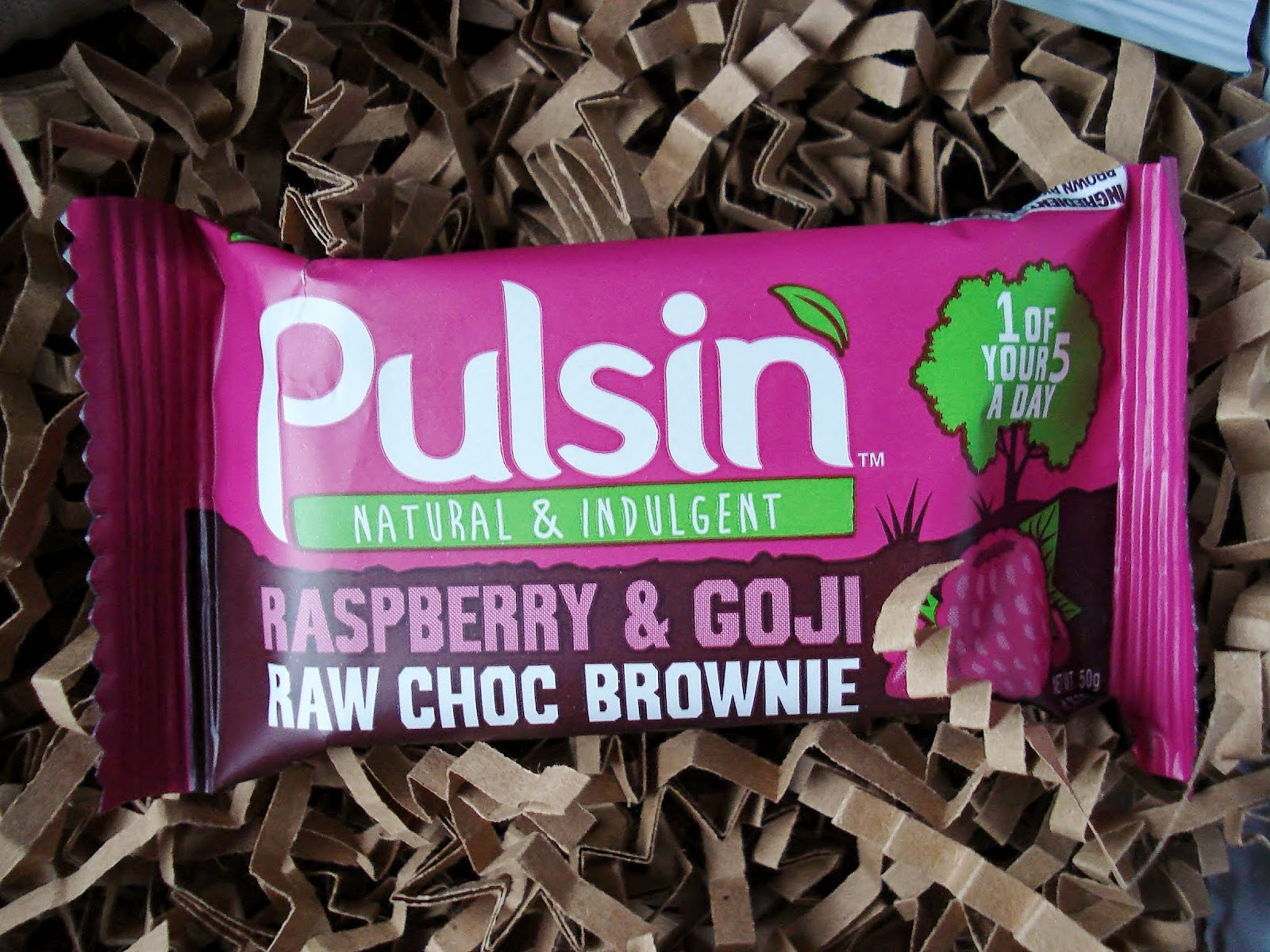 Pulsin Raspberry and Goji Raw Choc Brownie