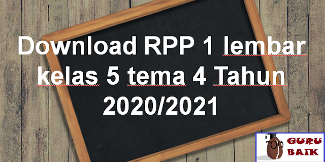 gambar contoh RPP kelas 5 tema 4