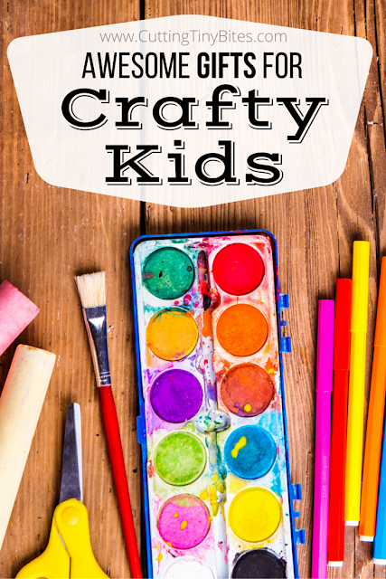Got a crafty kid? Find the perfect present in this gift guide that includes ideas for girls, boys, toddlers, preschoolers, elementary and older kids. Awesome art supplies and cool craft kids!
